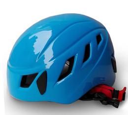 Опт Скалолазание шлемы Оптовая открытый оборудование супер легкий Альпинизм Скалолазание шлем пещера разведки шлем безопасности