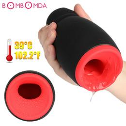 Male Toy Heating NZ - Penis Pump Vibrator Heating Oral Sex Machine Delay Training Vibrator Electric Male Masturbator Vibration Adult Sex Toys for Men C18111901