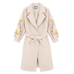 $enCountryForm.capitalKeyWord Canada - Womens Winter Wool Coat Jacket Floral Embroidery Girls Slim Lantern Sleeve Autumn Long Woolen Coat Parka Jaqueta Feminina 4XL