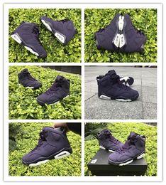 $enCountryForm.capitalKeyWord Canada - 2018 High Quality New 6 VI GS Purple Dynasty Basketball Shoes Women Classical Dark Purple Black 6s Sports Sneakers Shoes size 36-40