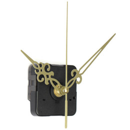 Chinese  YCYS-Gold Hands Black DIY Quartz Clock Movement manufacturers