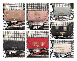 Color Leather Bags Australia - Free shipping !High-end custom luxury Genuine Leather fashion women Rivets Chains Hasp shoulder bags \Fashion Handags\Wallet Picture color