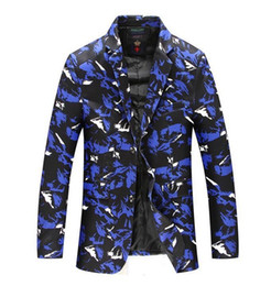 S-8XL Mens risvolto Collare casual Button Camo singolo Slim Fit cappotto del rivestimento