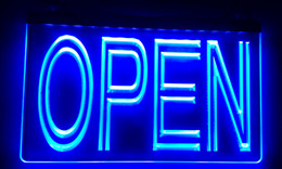 Neon Shop Open Signs UK - LS004-b OPEN Overnight Shop Bar Pub Club Neon Light Sign Decor Free Shipping Dropshipping Wholesale 8 colors to choose