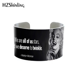$enCountryForm.capitalKeyWord UK - 2018 Trendy Marilyn Monroe Quotes Bangle Cuff Jewelry Adjustable Printed Cuffs Bracelet Actress Bangles Gifts Fans Fashion