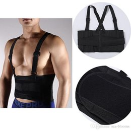 Back lumBar support Belt Brace online shopping - Free DHL Double Pull Strap Back Support Sport Accessories Lower Lumbar Brace Belt Support Lumbar Band Protective Gear Spine G446S