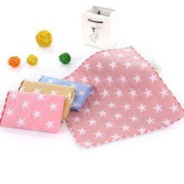 Compressed Sheets NZ - 2018 25 *25 cm Hot sale Comfortable 100% Cotton Multicolor Pentagram Healthy Hand Towel Washcloth Sheet Gift Bath Supplies