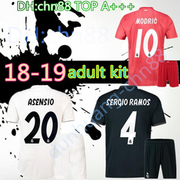 2018 2019 men adult Real madrid Black kits soccer Jerseys 18 19 RONALDO  JAMES BALE RAMOS ISCO MODRIC football shirt Thailand Quality real madrid  football ... 4fc9a0dc6