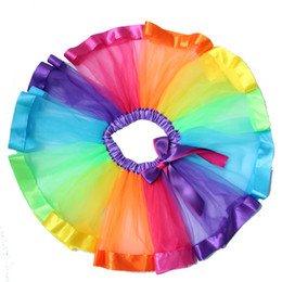 $enCountryForm.capitalKeyWord UK - Rainbow Skirts Girl Clothing Summer Color Girls Clothes Colorful Kids Tutu Skirt Princess Party Petticoat Pettiskirt WholeSale