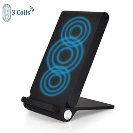 Wholesale 3 Coils Foldable Wireless Charger Fast Qi Wireless Charging Pad for Samsung Note iPhone X Plus and All Qi Enabled Devices With Package