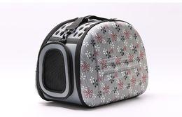 Pet Dog Puppy Cat House Bed Bolsas de viaje al aire libre portátil plegable Pet bolso Kennel Mat productos para mascotas accesorios suministros