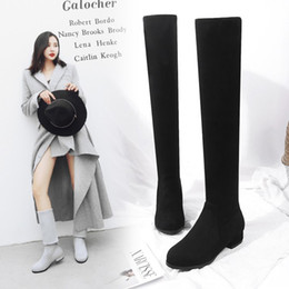 $enCountryForm.capitalKeyWord Canada - 2018 autumn and winter new Korean version of the fashion matte face stovepipe stretch over the knee boots 33-48