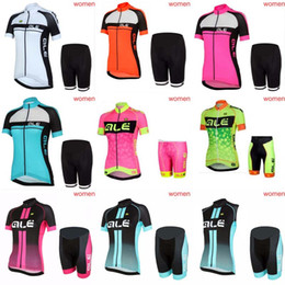 online shopping ALE Cycling Jerseys Set Summer Style For Women Quick Dry Cool Max Bike Wear bib shorts sets Quality Bicycle Clothing C1204