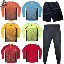 Men s Soccer Goalkeeper Jersey Football Sets 2018 19 Goal Keeper Uniforms  Suit Training Pants Doorkeepers Shirt Short Kit c0b4d8be0