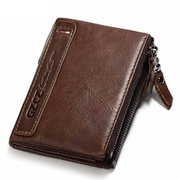 $enCountryForm.capitalKeyWord NZ - Hengsheng fashion zipper men wallet with 100% genuine leather vertical men wallet of brown men short wallet with cheap price
