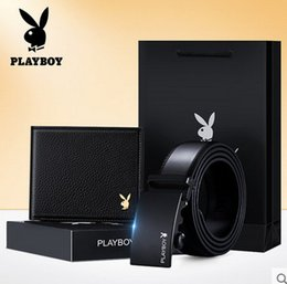 Dandy Gift Box Suit Young Men Cowhide Wallet Genuine Leather Belt A Birthday Present Give Boyfriend A928