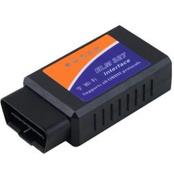 Опт Универсальный ELM327 Wifi сканер авто OBD2 диагностический инструмент ELM 327 WIFI OBDII сканер V 1.5 V1.Радиотелеграф 5 для обоих телефон Андроида iPad iPhone