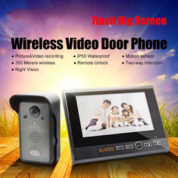 "2018 Newest 7"" Monitor Wireless Video Doorbell Door Phone Camera KDB702 Home security access control system video intercom system ann"