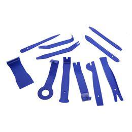 $enCountryForm.capitalKeyWord NZ - 11PCS lot Blue Trim Removal Car CD Audio Disassembly Tool Interior Decoration Central Control Audio Decoration CD Disassembly
