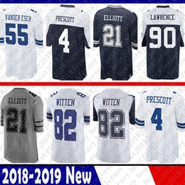 Dallas 4 Dak Prescott 21 Ezekiel Elliott Cowboys Jersey 82 Jason Witte 22  Emmitt Smith 90 DeMarcus Lawrence 55 Vander Esch 50 Lee 11 Beasley f89663a12
