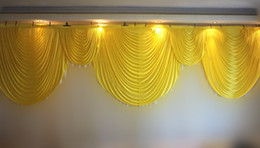 Discount wedding backdrop curtains swag 6m wide swags valance wedding stylist designs backdrop Party Curtain drapes Celebration Stage Performance Background dec