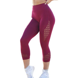 super tight yoga pants 2019 - Super Stretchy Gym Tights Energy Seamless Tummy Control Yoga Pants High Waist Sport Leggings Purple Running Pants Women