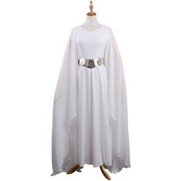 $enCountryForm.capitalKeyWord Canada - The Hot Movie SW Princess Leia Costume White Dress Cosplay Costume Adult Woman With Belt Halloween Party