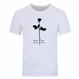 depeche mode t shirts UK - Depeche Mode T Shirt Enjoy The Silence T shirts Men Short Sleeve Cotton Tops Men Tee Fashion Summer T-shirts DIY-0334D