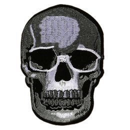 China Embroidered Patches Skull Cranium Punk Style Sewing Iron On Badge For Bag Jeans Hat Appliques DIY Handwork Sticker Apparel Decoration suppliers