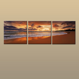 $enCountryForm.capitalKeyWord Australia - Framed Unframed Hot Modern Contemporary Canvas Wall Art Print Painting Beach Sunset Seascape Picture 3 piece Living Room Home Decor ABC249