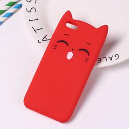 $enCountryForm.capitalKeyWord NZ - Cute 3D Silicone Cartoon Cat Pink Black Glitter Soft Phone Case Cover For Iphone X 6 7 8 Plus