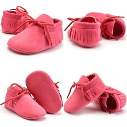 Wholesale 2017 New Brand Baby Infant Toddler Newborn Shoes Boots Cute Girls Soft Sole Tassels Walking Shoes Baby Boots