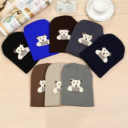 $enCountryForm.capitalKeyWord NZ - Autumn and winter warm male baby strap bear earmuffs infant children cartoon pullover hat wool hat knit hat