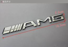 Sl mercedeS online shopping - Car styling Silver Chrome Black M AMG Decal Sticker Logo Emblem Car Badges for Mercedes CL GL SL ML A B C E S class Car st