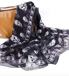 Chinese  30 colors new arrived fashion skull scarves 140cm brand luxury scarves woman summer high quality luxury brand scarf free shopping manufacturers