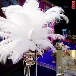 $enCountryForm.capitalKeyWord Australia - Wholesale 100pcs lot 6-24inch(15-60cm) White ostrich feathers for Wedding centerpiece Table centerpieces Party Decoraction supply
