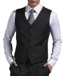 Черные официальные мужские костюмы Жилеты на заказ Свадебный жилет для жениха 2018 Свадебный выпускной жилет Жилет Новый стиль