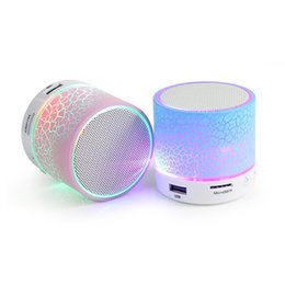 Free Sound For Mobile UK - Portable Bluetooth Mini Speakers Wireless Hands Free LED Speaker TF USB FM Sound Music for IPhone X Samsung Mobile Phone