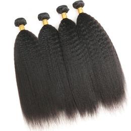 $enCountryForm.capitalKeyWord UK - 8A 100% Real Human Hair Indian Unprocessed Virgin Hair 4 Bundles Kinky Straight Natural Black 100g pcs Total 400g Free Shipping
