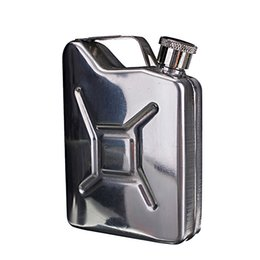Chinese  New Wholesale 5oz Stainless Steel Jerry Can Mini Hip Flask Liquor Whisky Pocket Bottle + Funnel Freeshipping C1 manufacturers