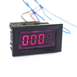 motorcycle digital tachometers UK - Red Car Motorcycle Digital LED Tachometer Tacho Gauge Speed Meter Monitor
