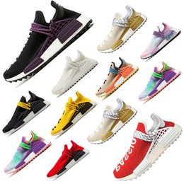 Discount golf pw - PW Human Race trail Running Shoes Men Women Pharrell Williams HU Runner Yellow Black White Red Green Grey blue sports DE