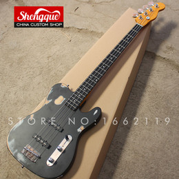 Basswood eBony fingerBoard online shopping - factory custom Tele bass guitar strings do old with ebony fingerboard electric guitarra musical instrument shop