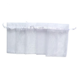Pack Supplies Australia - RE Wholesale 100pcs lot 17x23cm White Jewelry Gift Organza Bags Jewelry Wedding Party Decoration Crafts Pack Festive Supplies