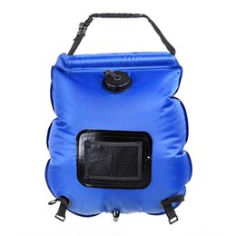 $enCountryForm.capitalKeyWord Canada - New Outdoor Portable Solar Heated Shower 20L Folding Water Bag Travel Camping Bathing Bag with Thermometer