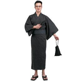 d21fd615d2 Japanese Kimono Traditional UK - Traditional Japanese Kimono Men Cotton  Robe Yukata Men s Bath Robe Kimono
