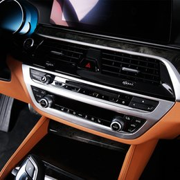 Discount bmw chrome accessories - ABS Chrome Car Air Conditioner Outlet Panel Cover Trim for BMW 5 Series G30 2017 2018 Interior Accessories Styling