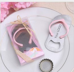 $enCountryForm.capitalKeyWord Australia - Wedding Party Gifts Starfish Pink Flip Flop bottle opener Slipper Wine Opener Beach Festive Supplies 200pcs lot Free shipping