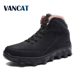 $enCountryForm.capitalKeyWord NZ - Vancat 2018 New Men Boots Winter Outdoor Sneakers Mens Snow Boots Waterproof Warm Plush Snow Ankle Big Size 39-46