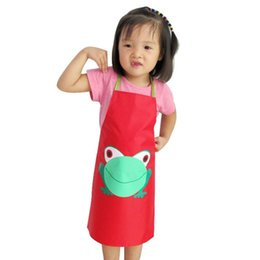 $enCountryForm.capitalKeyWord UK - 1PC Kids Children Waterproof apron the front PVC apron for the Baby Frog Print Paint Eat Drink Outerwear